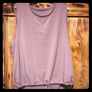 Taupe high/low tank